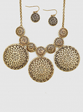 Ornate Necklace & Earring Set