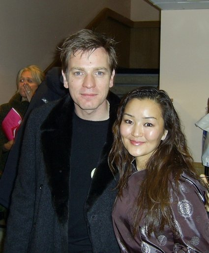 Designer and owner of SEMON Cashmere - Semka with actor Ewan McGregor