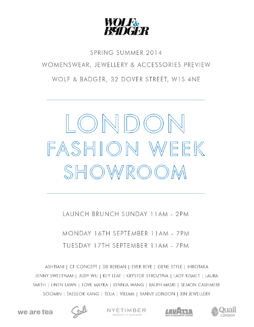 London Fashion Week showroom in MAYFAIR