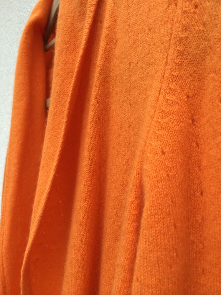 Lacy Cashmere cardigan in Burnt orange