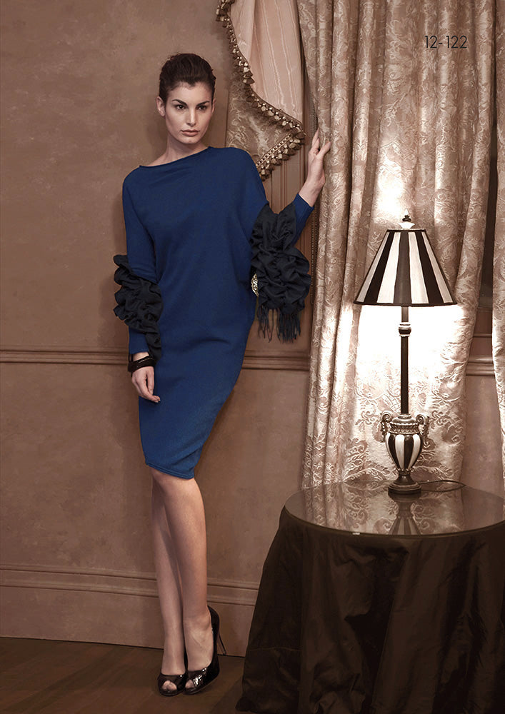 Asymmetric Cashmere Dress