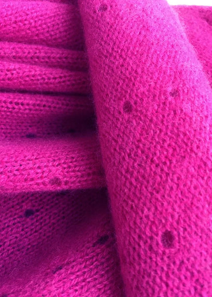 Multiwear Cashmere Poncho in Hot Pink