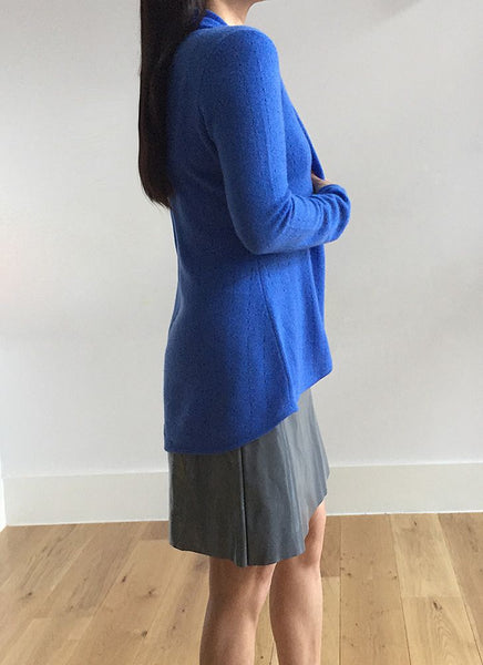Lacy Cashmere cardigan in Cornflower blue