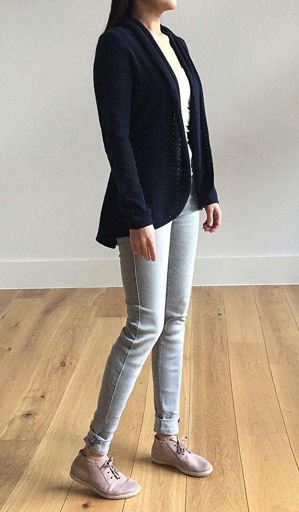 Lacy Cashmere cardigan in Navy