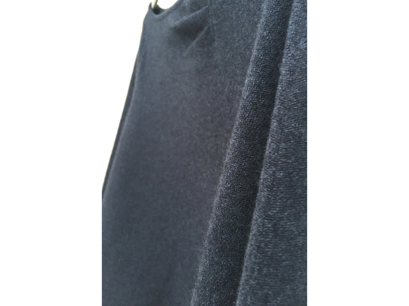 One sleeve pure Cashmere poncho in Ink navy - grey navy | SEMON Cashmere
