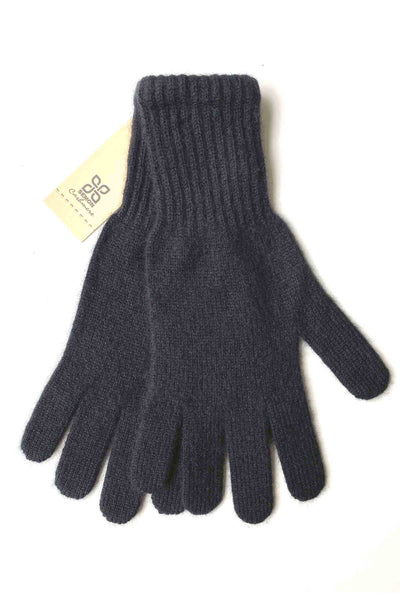 Womens cashmere gloves in black