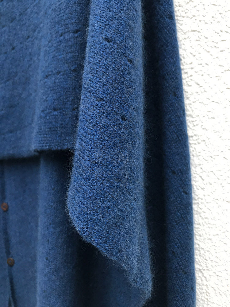 Jeans blue Cashmere Poncho UK, Women Wrap, Cape, Shawls, Scarf, shawl, cardigan, light weight, summer poncho, ladies small button poncho sweater sale | SEMON Cashmere