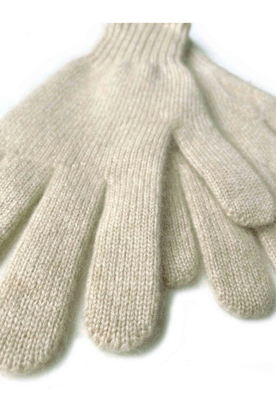 Womens 100% pure cashmere gloves in beige | SEMON Cashmere