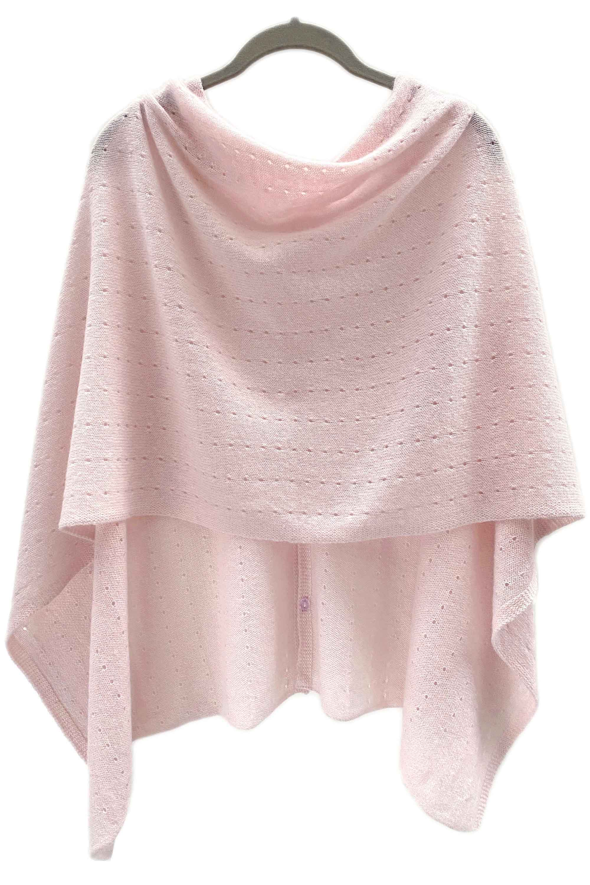 Pale pink Cashmere Poncho UK, Women Wrap, Cape, Shawls, Scarf, shawl, cardigan, light weight, summer poncho, ladies small button poncho sweater sale | SEMON Cashmere