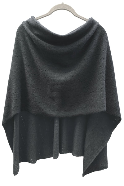 Black Cashmere Poncho UK, Women Wrap, Cape, Shawls, Scarf, shawl, cardigan, light weight, summer poncho, ladies small button poncho sweater sale | SEMON Cashmere