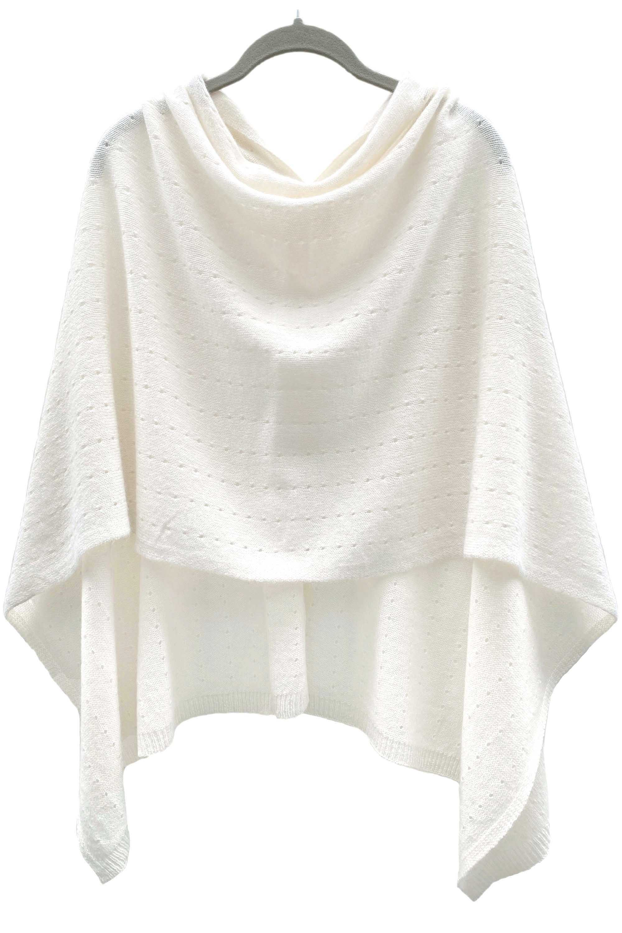 Cream Cashmere Poncho UK, winter white Women Wrap, Cape, Shawls, Scarf, shawl, cardigan, light weight, summer poncho, ladies small button poncho sweater sale | SEMON Cashmere