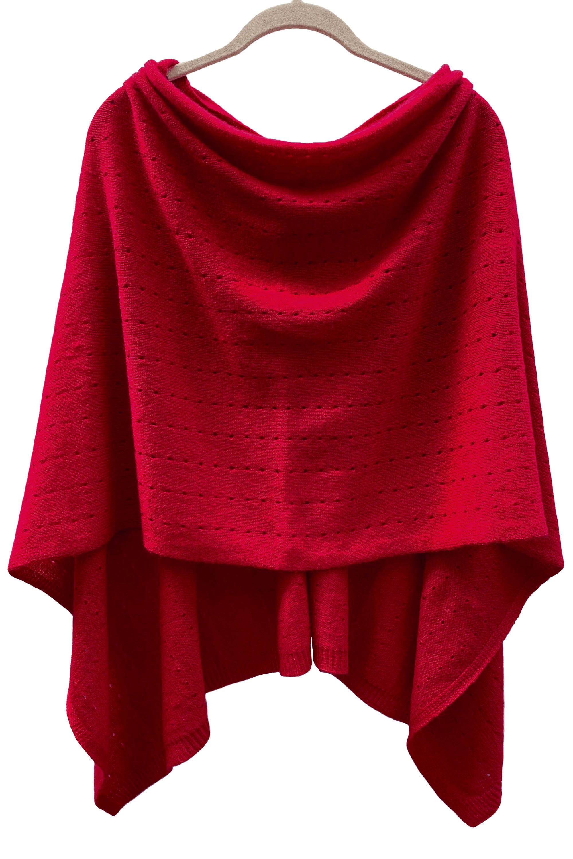 Deep red Cashmere Poncho UK, Women Wrap, Cape, Shawls, Scarf, shawl, cardigan, light weight, summer poncho, ladies small button poncho sweater sale | SEMON Cashmere