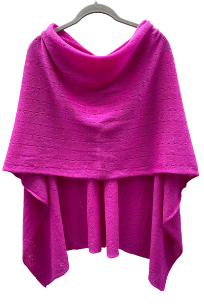 Cashmere Ponchos with buttons | Multiway women's wraps and