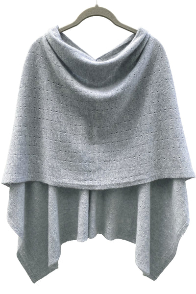 Silver grey Cashmere Poncho UK, Women Wrap, Cape, Shawls, Scarf, shawl, cardigan, light weight, summer poncho, ladies small button poncho sweater sale | SEMON Cashmere