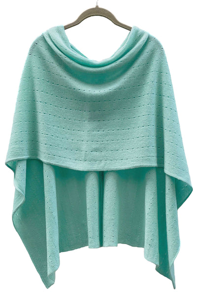 turquoise Cashmere Poncho London UK, Women Wrap, blue green Multiway damen Cape, Shawls, Scarf, shawl, cardigan, light weight poncho sale | SEMON Cashmere