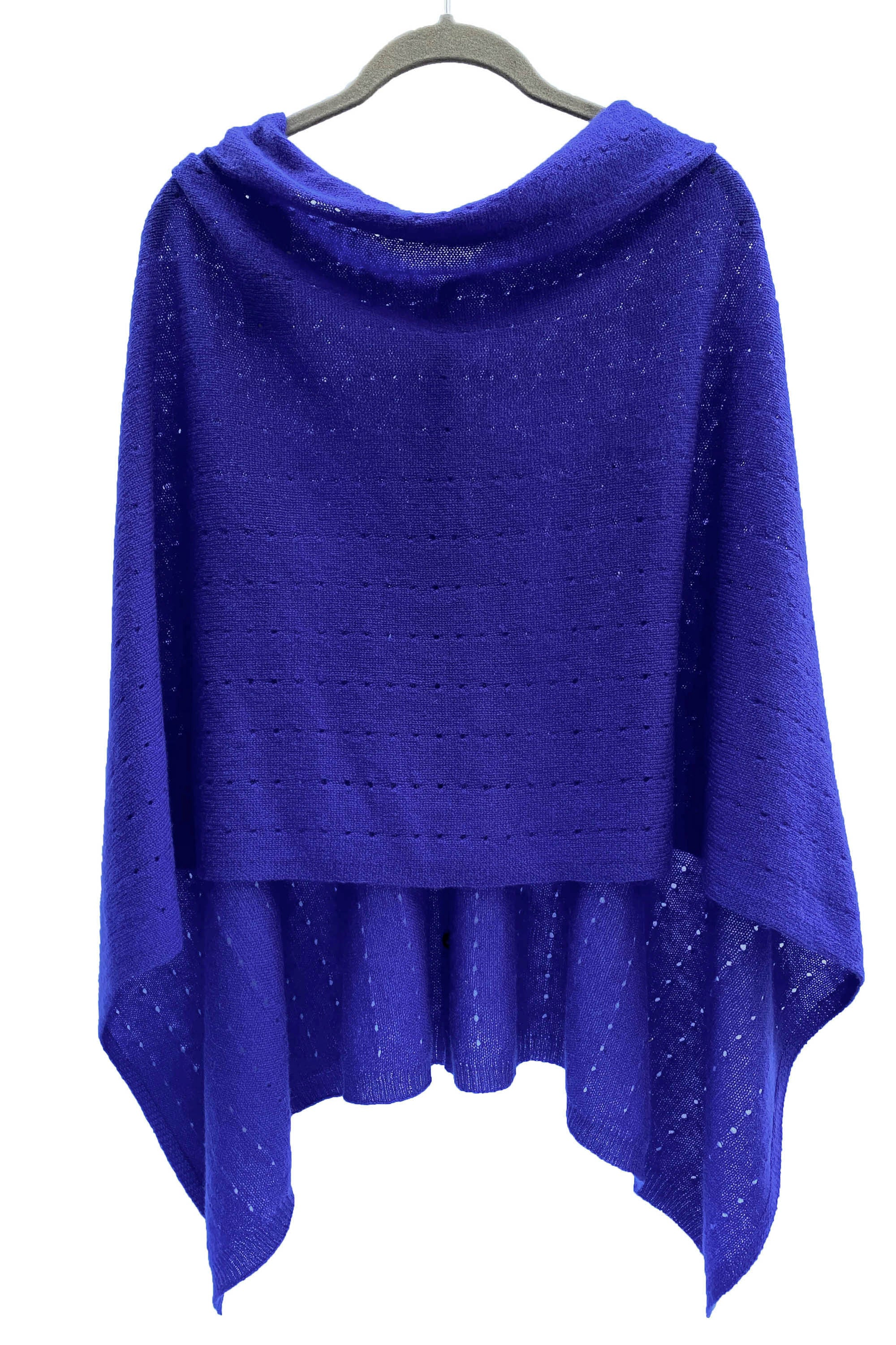 Indigo blue Cashmere Poncho UK, Women Wrap, Cape, Shawls, Scarf, shawl, cardigan, light weight, summer poncho, ladies small button poncho sweater sale | SEMON Cashmere