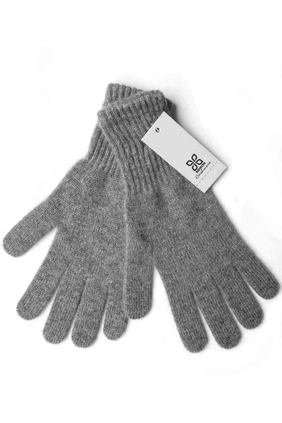 Womens 100% pure cashmere gloves in mid grey | SEMON Cashmere