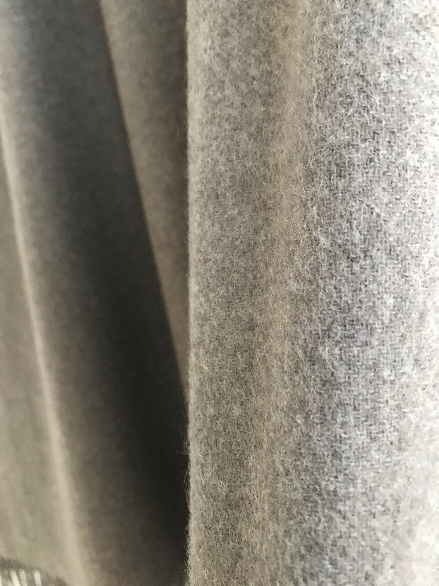 Cashmere plain blanket, bed spread, throw in natural beige soft grey biscuit stone