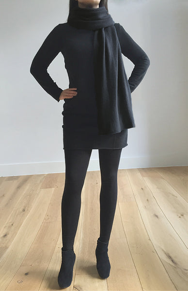 Multiwear Cashmere Poncho in Black