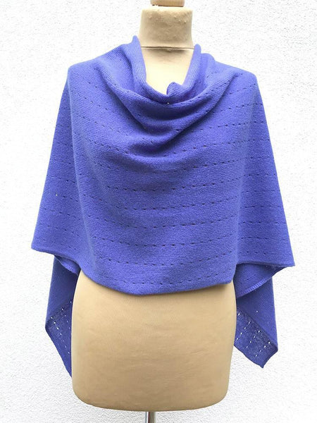 Lavender purple Cashmere Poncho UK, Women Wrap, Cape, Shawls, Scarf, shawl, cardigan, light weight, summer poncho, ladies small button poncho sweater sale | SEMON Cashmere