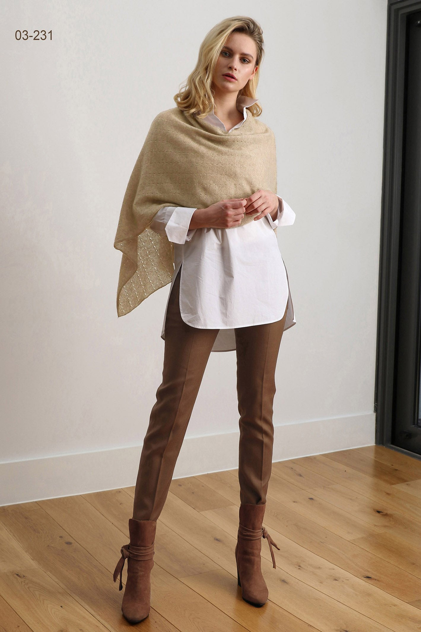 Beige Cashmere Poncho UK, beige Women Wrap, Cape, Shawls, Scarf, shawl, cardigan, light weight, multiwear poncho, ladies small button poncho sweater sale | SEMON Cashmere