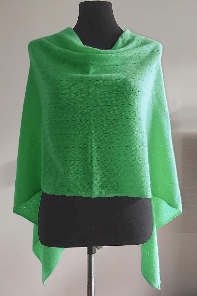 Multiwear lacy Poncho in Mint green