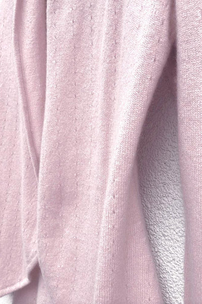 Lacy Cashmere cardigan in Pale pink