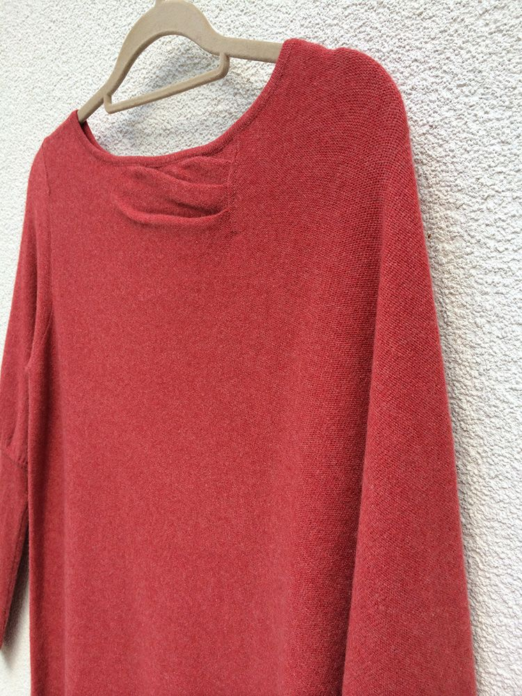 One sleeve cashmere poncho in Coral