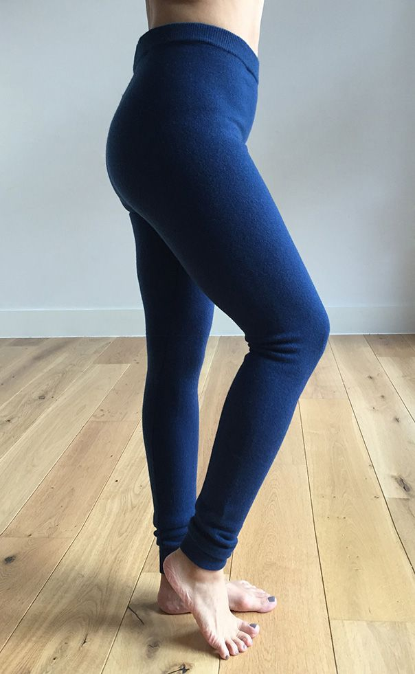 Stretchy thick cashmere leggings