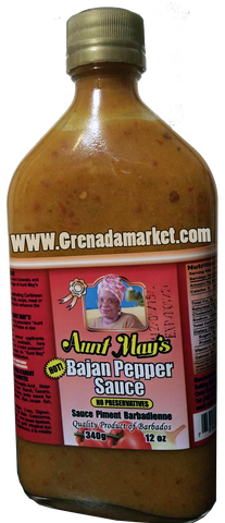 Aunt May's Bajan Pepper Sauce - 12oz (Product of Barbados)