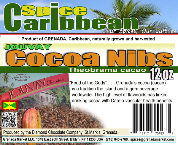 Cocoa / Cacao Raw Nibs -12oz premium product of Grenada, Caribbean