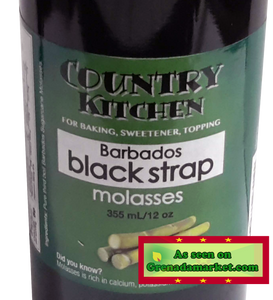 BLACKSTRAP MOLASSES - Country Kitchen, 355ml, product of Barbados