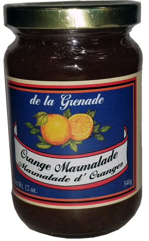 ORANGE  MARMALADE - Gourmet product of Grenada (340g - 12 Oz)