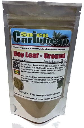 BAY LEAF - GROUND .... Pure Grenada (6 Oz resealable pouch)