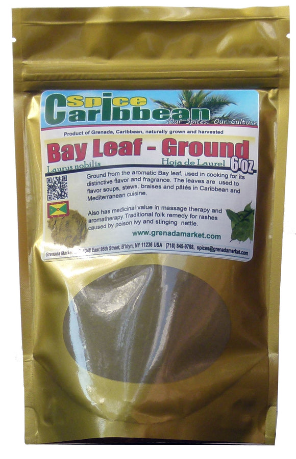 BAY LEAF GROUND - Pure Grenada (6 Oz resealable pouch)
