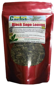Tropical Black Sage leaves, Pure Organic - 4 oz (Product of Grenada)