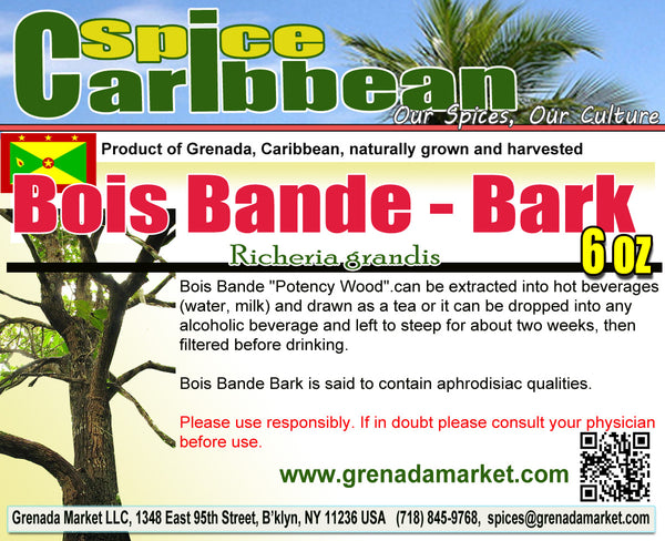 BOIS BANDE - BARK PIECES (6 Oz in resealable pouch) product of Grenada