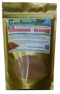 CINNAMON - GROUND (TRUE CINNAMON) - cinnamomum verum (6 Oz resealable pouch, Grenada)