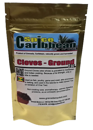 CLOVE GROUND - Pure Grenada (3 Oz resealable pouch)