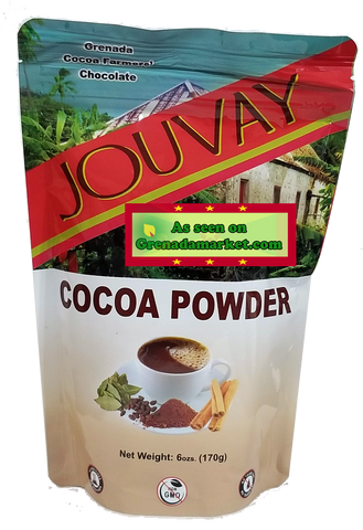 100% Cocoa Powder - Natural in 6 Oz Resealable Pouch (Product of Grenada)
