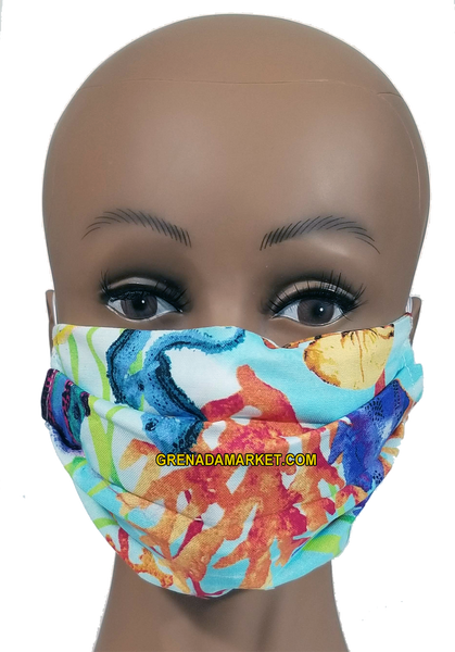 Caribbean Style Face Mask - Coral Reef