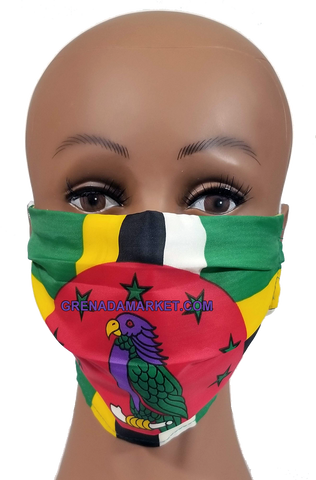 Caribbean Style Face Mask - Dominica