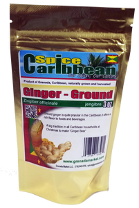 GINGER - GROUND (3 Oz resealable pouch, Grenada)