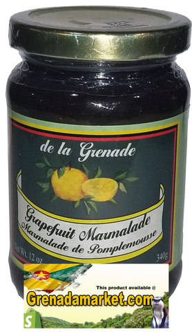 GRAPEFRUIT MARMALADE - Gourmet product of Grenada (340g - 12 Oz)