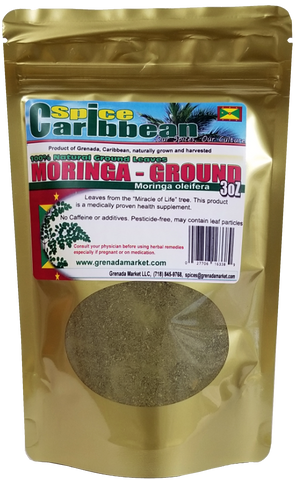 Moringa Organic Ground Leaves, 3Oz - Grenada, Caribbean