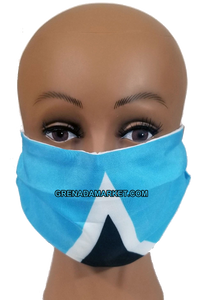 Caribbean Style Face Mask - St. Lucia