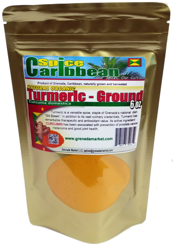 TURMERIC - GROUND, Spice of Grenada (6 Oz in resealable pouch)