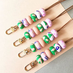 Polymer clay lanyards