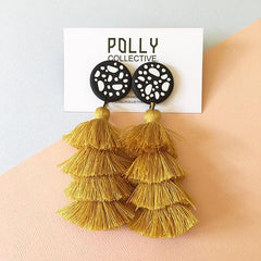 Polymer clay earrings with tassels
