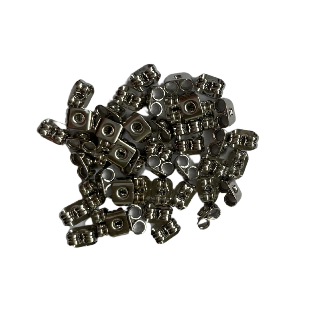 Surgical Steel Butterfly Earring Backs - 100 pieces